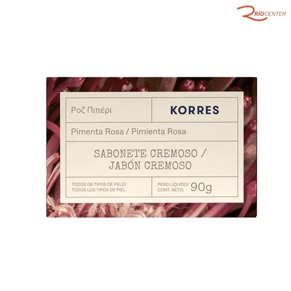 Sabonete Cremoso Korres Pimanta Rosa - 90g