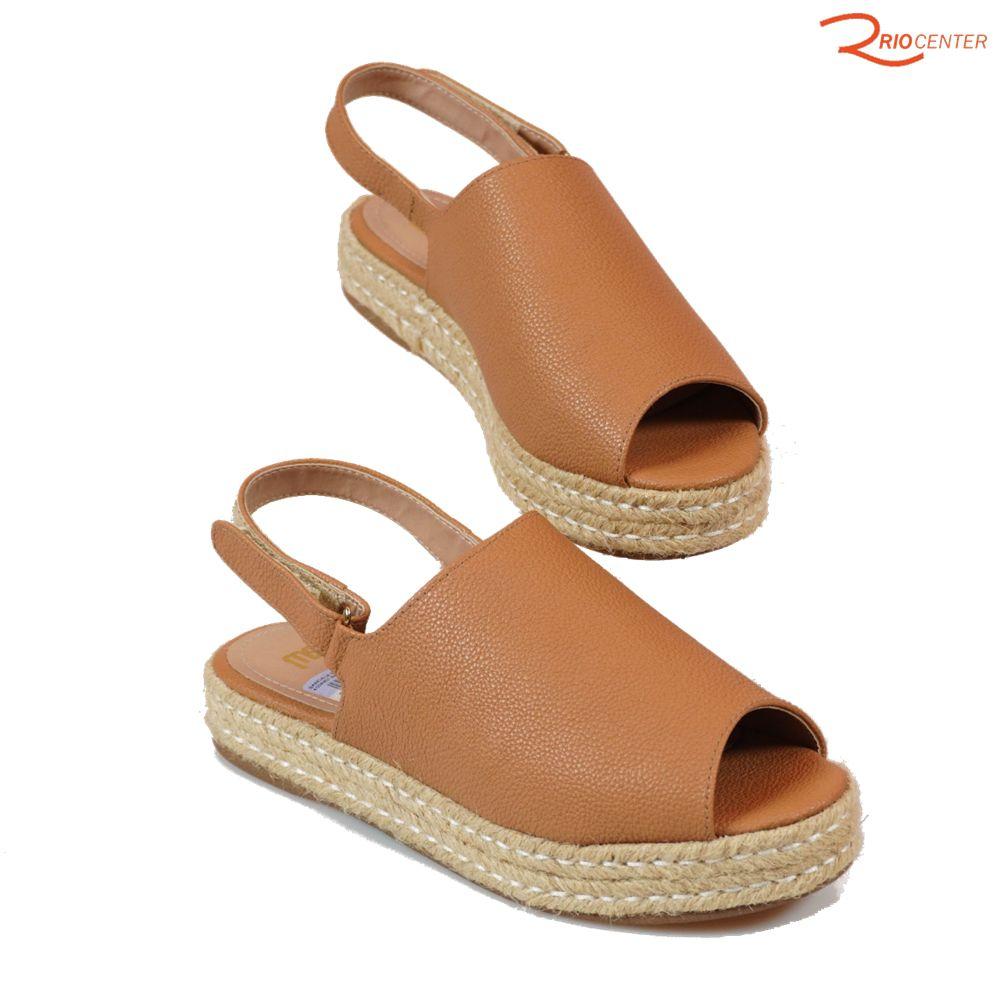 Sandália MS Com Velcro E Salto Baixo Veneza Ambar