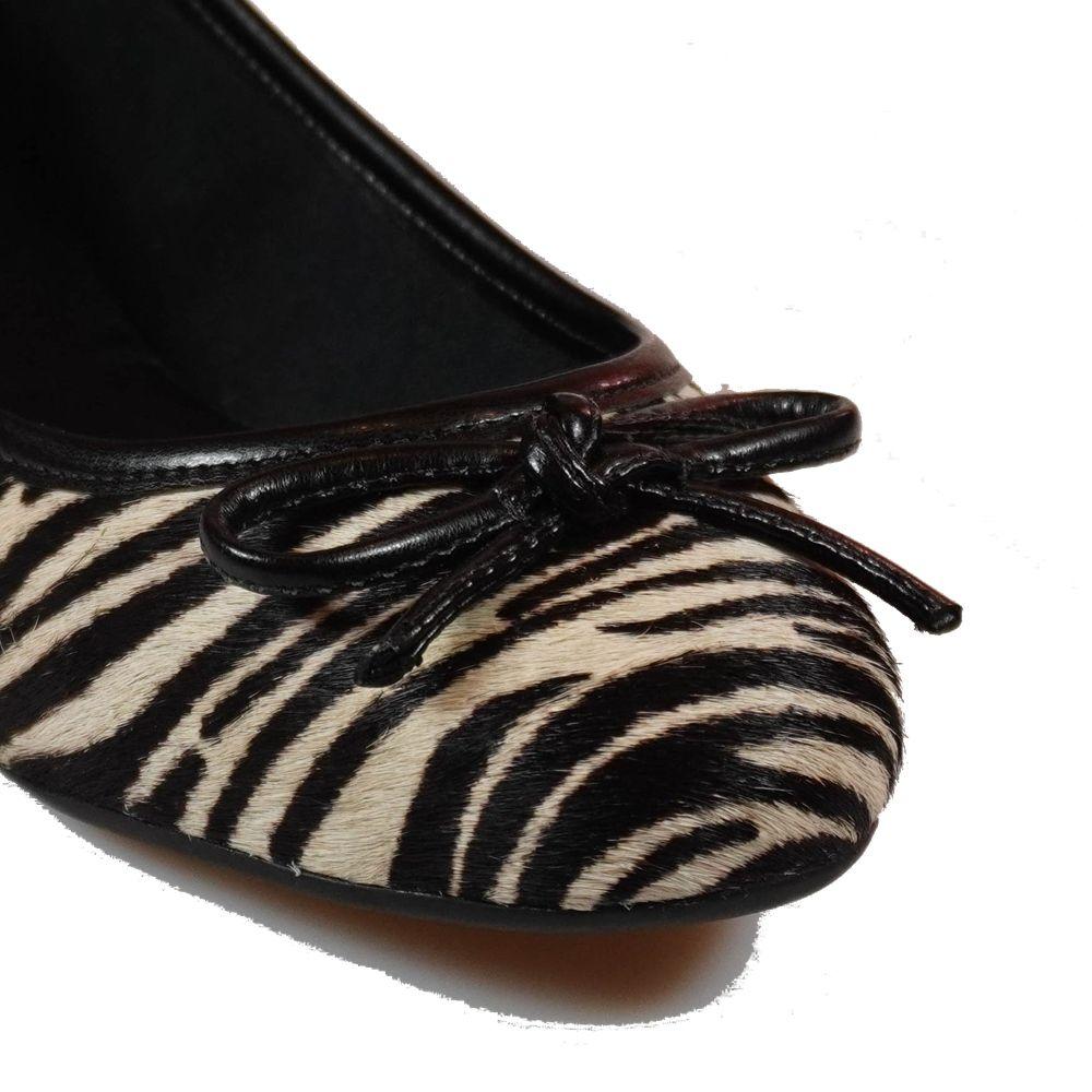 Sapatilha MS Couro De Zebra Calf Preto