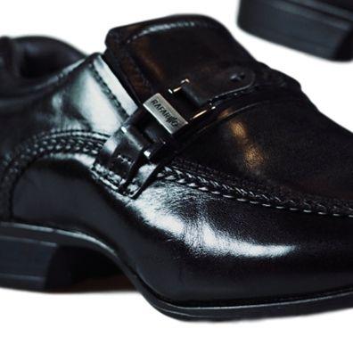 Sapato Masculino Rafarillo Social em Couro Cotton Preto