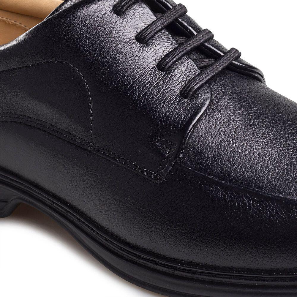 Sapato Masculino Social Rafarillo em Couro Vegetal Natural Preto