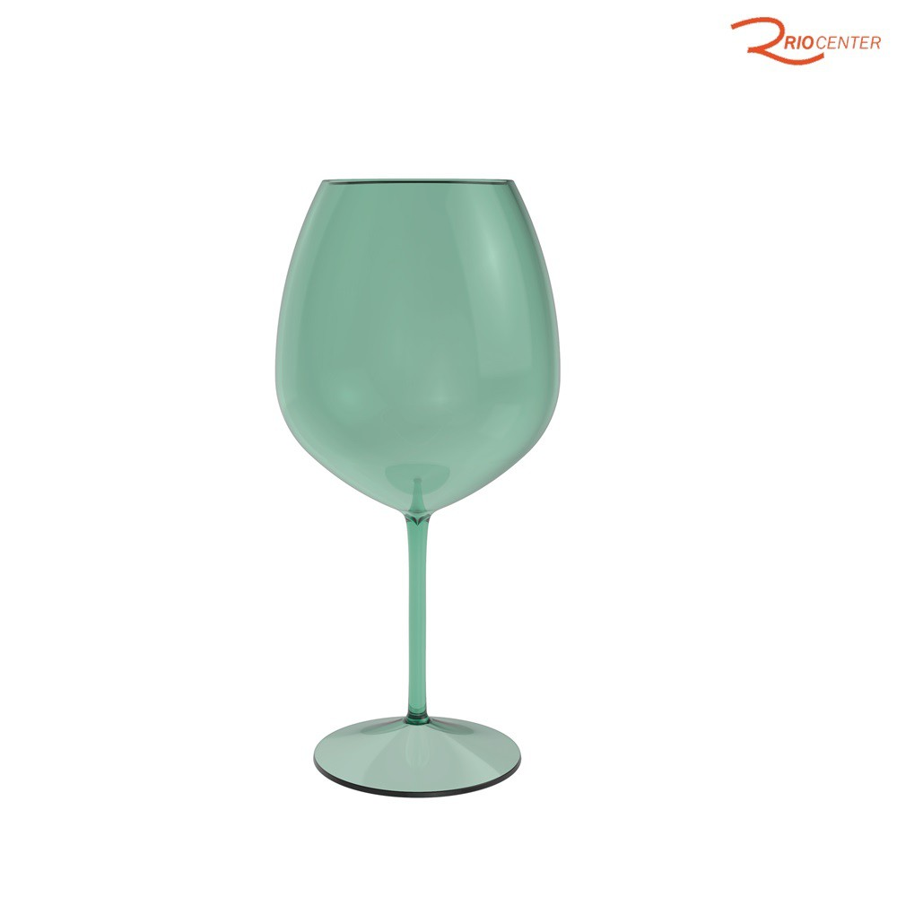Taça Champagner Ou Em Poliestireno Verde 475ml