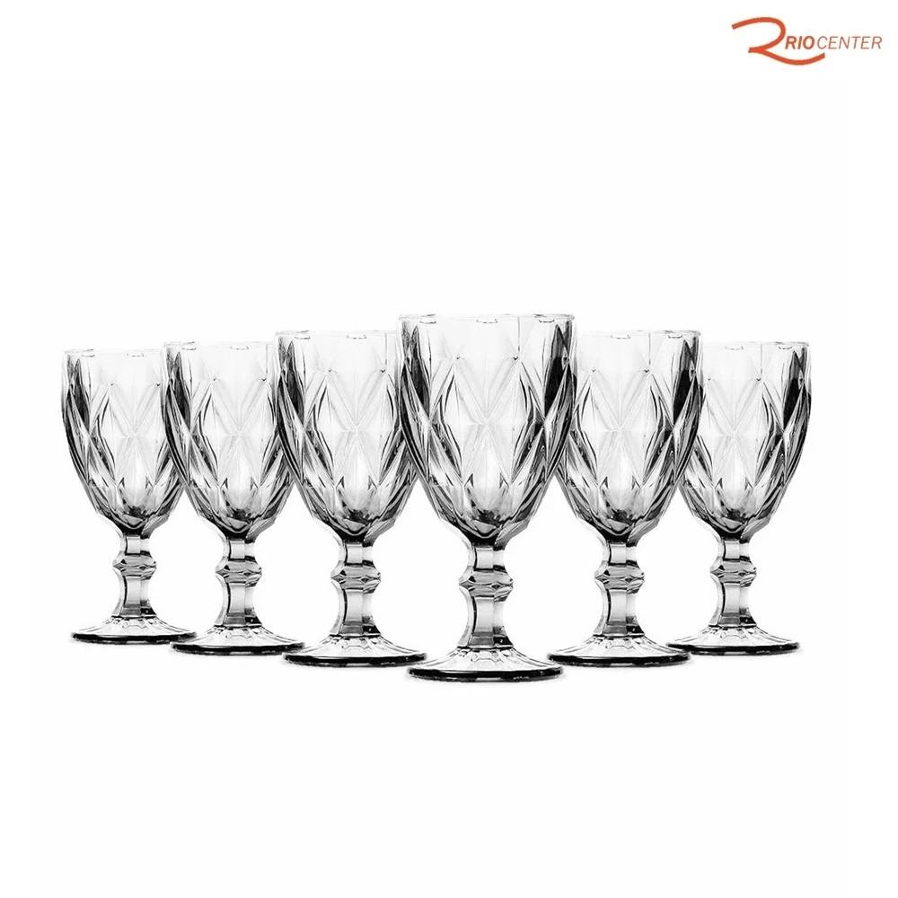 Taça De Vinho Class Home Diamante Clear 210ml