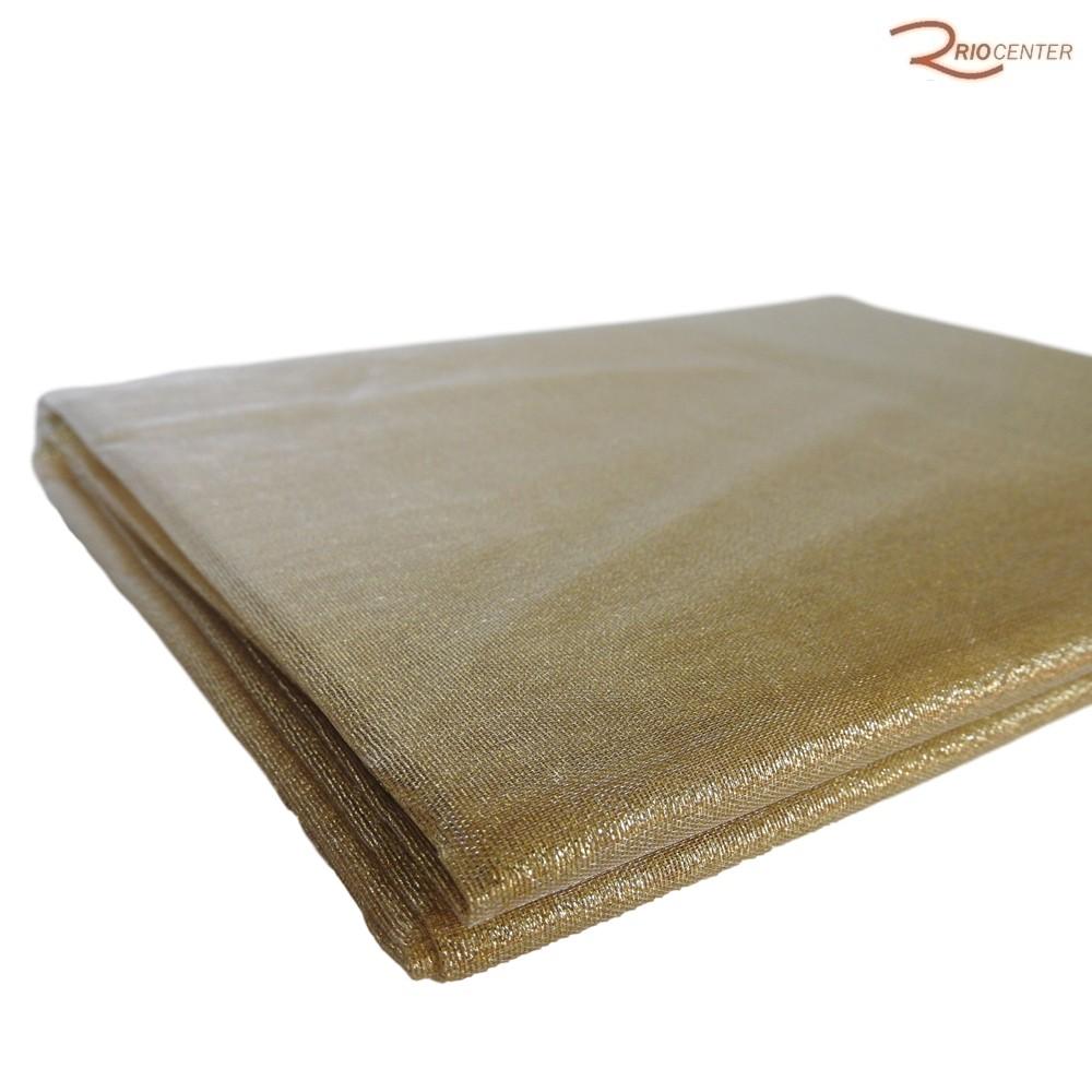 Tecido Decorativo D&A Metalizado Dourado