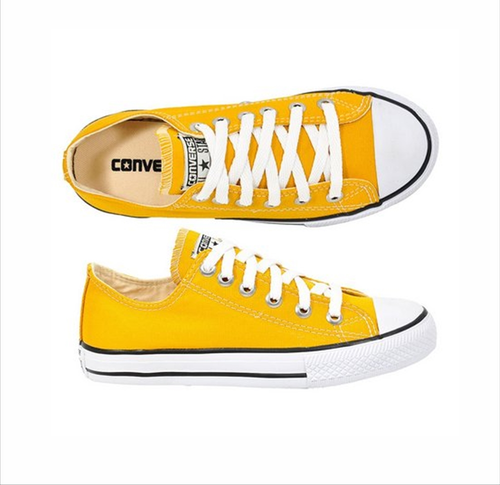 Tênis All Star Chuck Taylor Lona Converse Amarelo Infantil