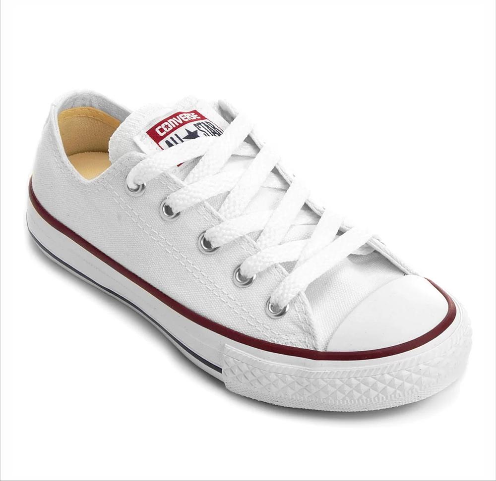 Tênis All Star Chuck Taylor Lona Converse Branco Infantil