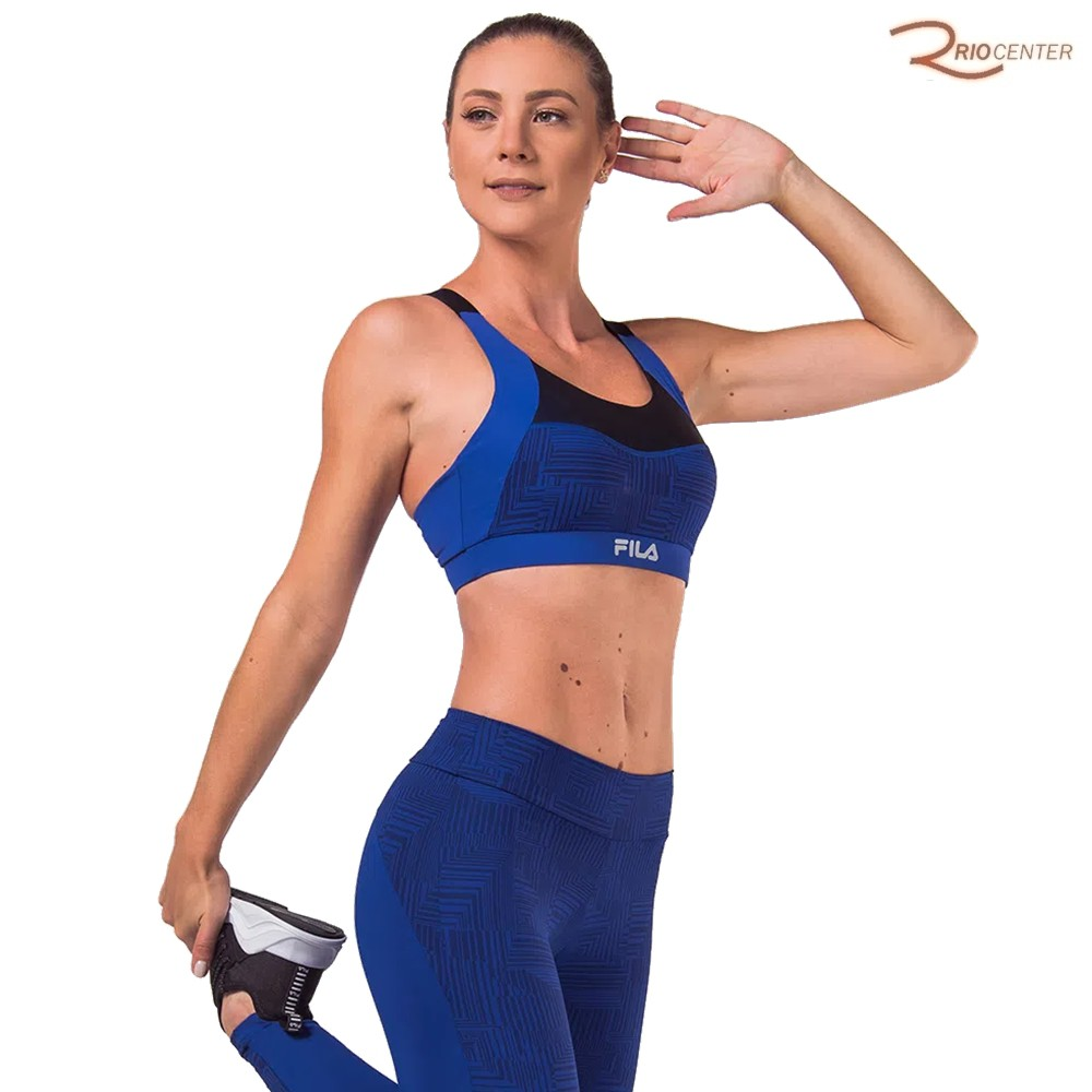 Top Fila Function Feminino Azul Marinho