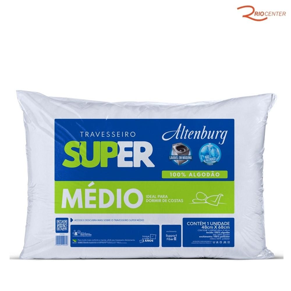 Travesseiro Altenburg Super Médio Branco - 48X68cm