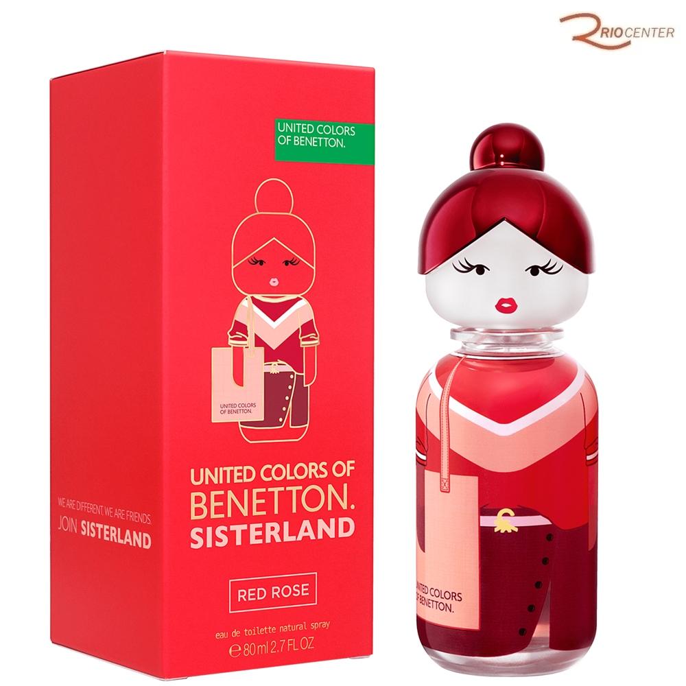 United Colors Sisterland Benetton Red Rose Eau de Toilette - 80ml