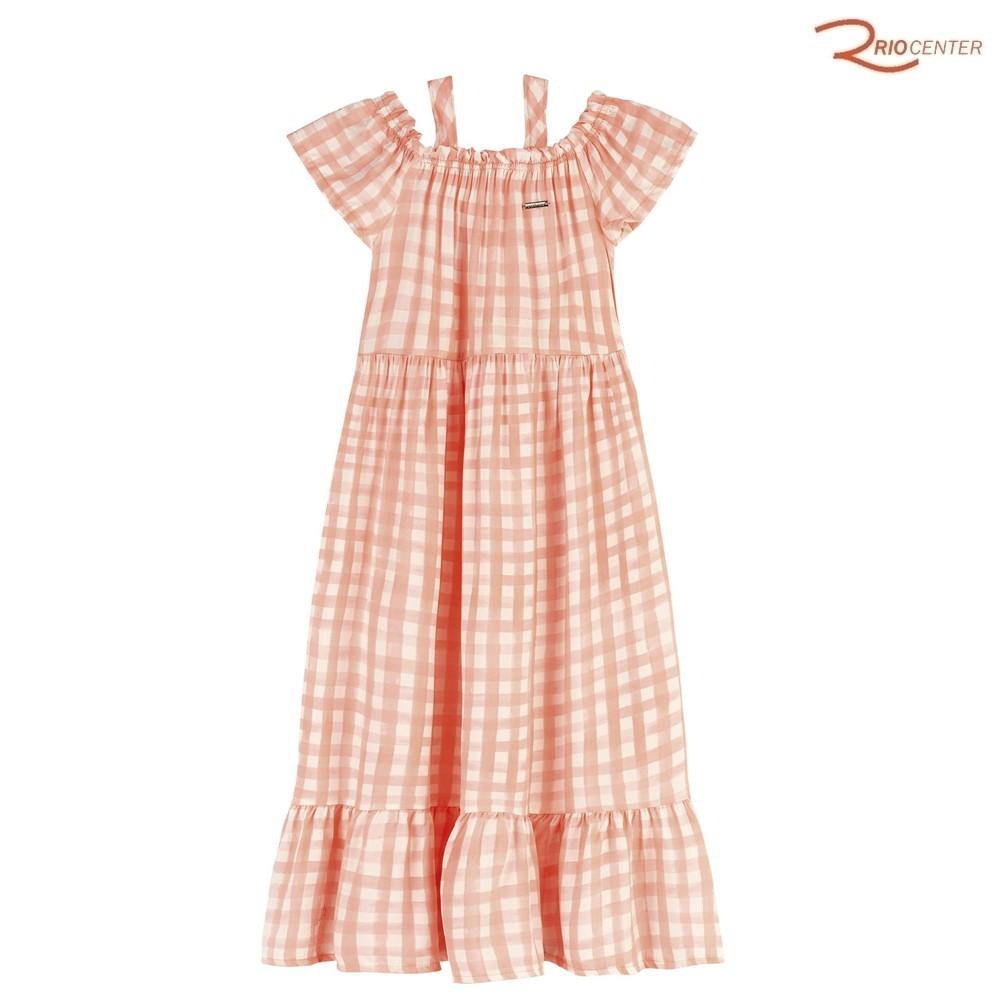 Vestido Colorittá Infantil Xadrex Rosa