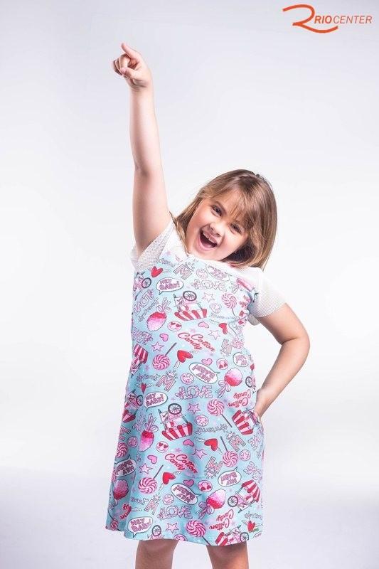 Vestido Infantil Momi T Dress Cotton Candy