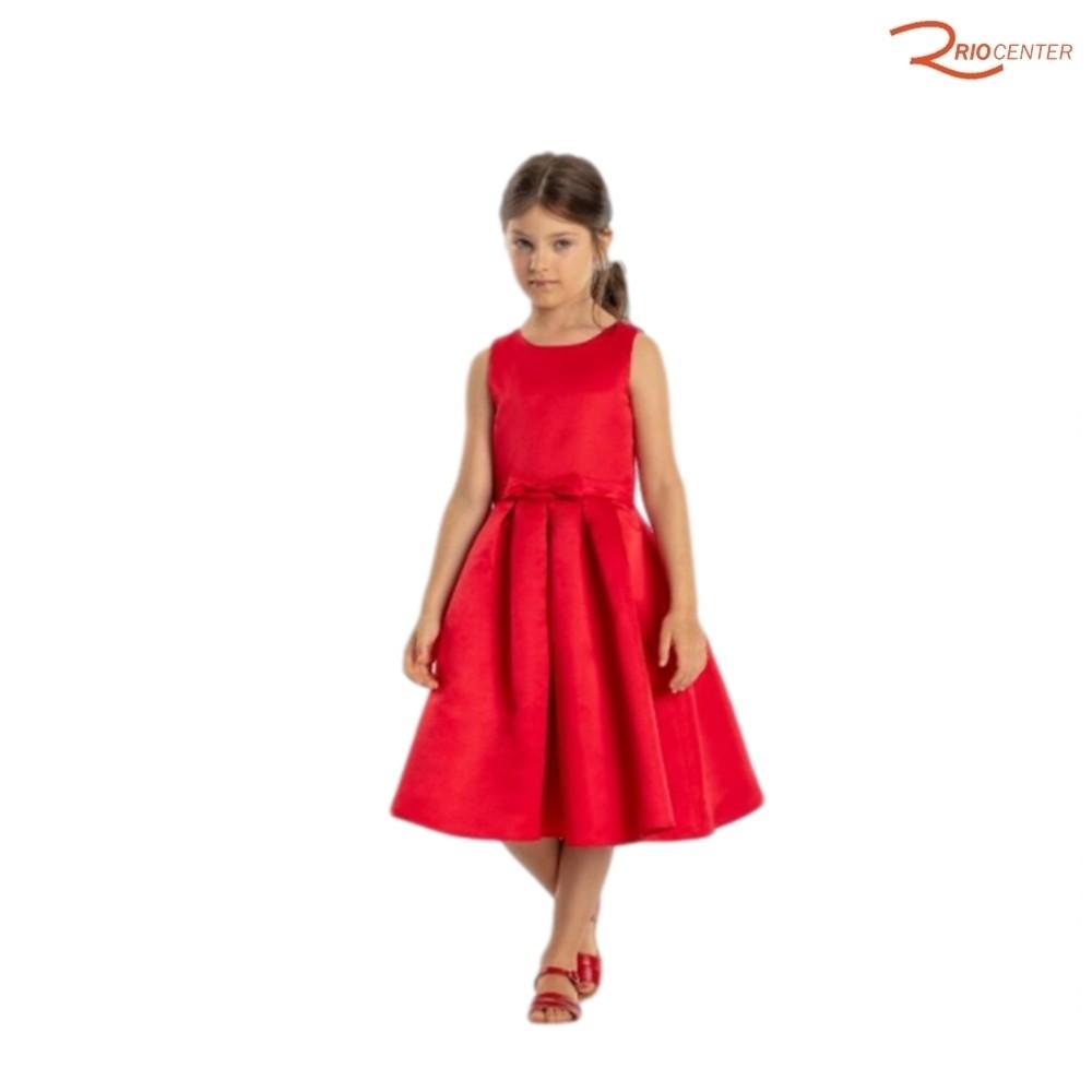Vestido Petit Cherrie Vermelho Liso