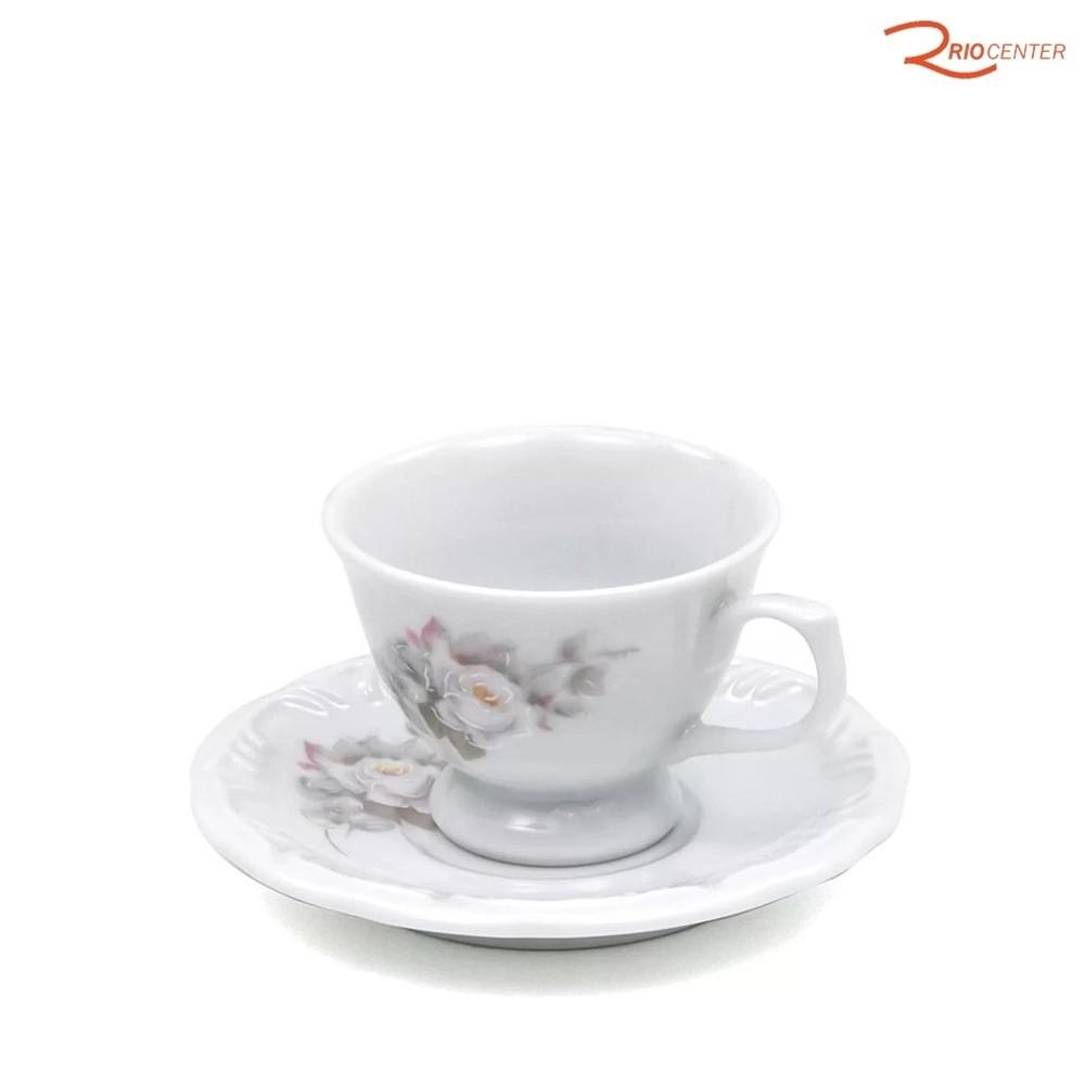 Xícara de Café com Pires Schmidt Pomerode Decoração Eterna