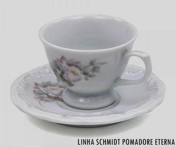 Xícara de Chá com Pires Schmidt Pomerode Decoração Eterna