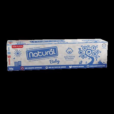 Gel Dental Natural de Banana, Camomila e Erva Cidreira| Orgânico Natural - 50g