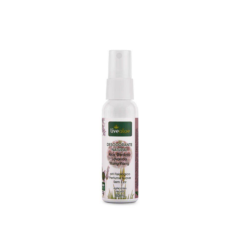Desodorante Spray Natural Aloe & Gerânio | Live Aloe - 60ml