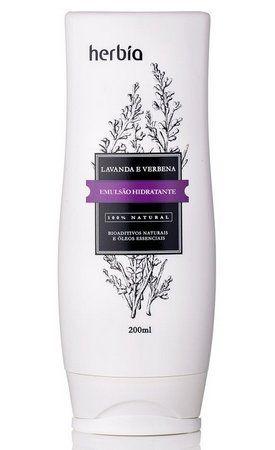 Emulsão Hidratante Natural Lavanda e Verbena | Herbia - 200ml