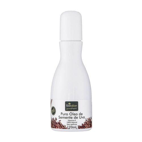 Óleo Puro Vegetal de Semente de Uva|Livealoe- 120ml