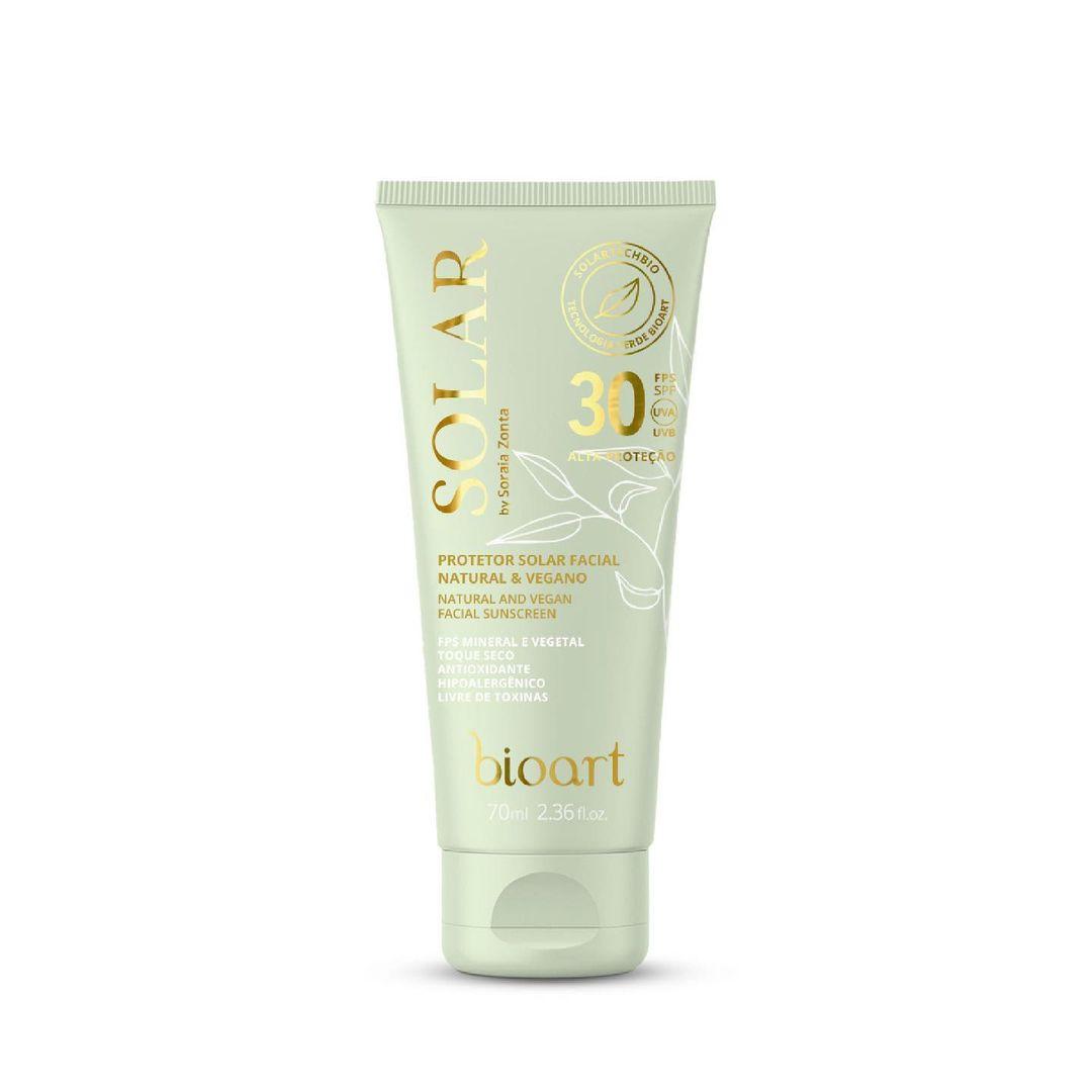 Protetor Solar Facial Natural e Vegano   Bioart - 70ml