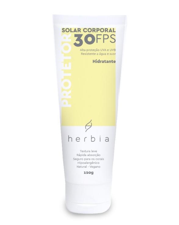 Protetor Solar Natural Corporal FPS 30 UVA/ UVB | Herbia - 120g