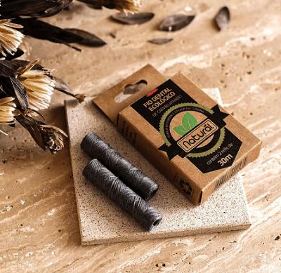 REFIL - Fio Dental Ecológico de Carvão Ativado (contém 2 refis de 30 m | Orgânico Natural