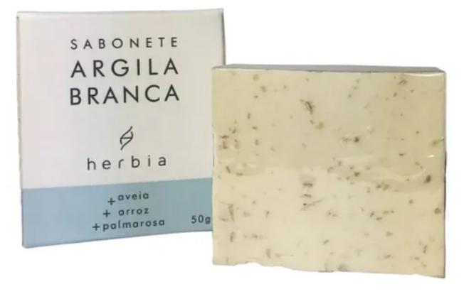 Sabonete Argila Branca| Herbia - 50g