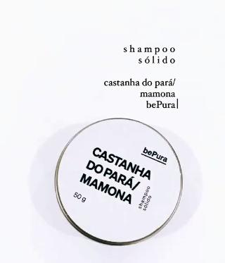 Shampoo Sólido - Castanha do Pará & Mamona | bePura - 50g