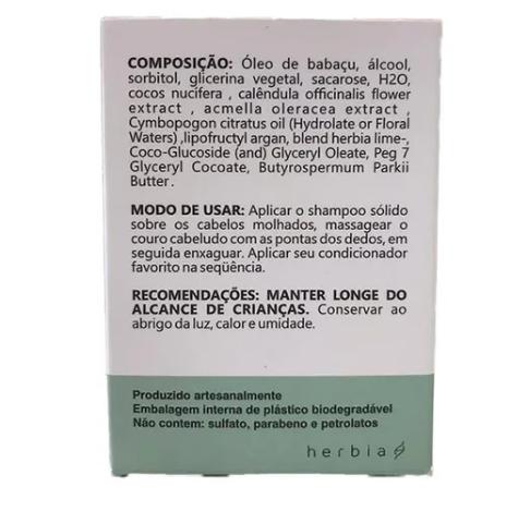 Shampoo Sólido Lippia Alba| Herbia - 100g