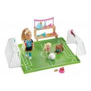 Barbie Dreamhouse Chelsea Futebol Com Cachorrinho - Mattel