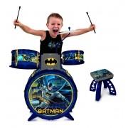 Bateria Infantil Batman Instrumentos Musicais-Fun Brinquedos