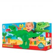Blocos De Encaixe Baby Land Dino Jurassic- Cardoso Educativo
