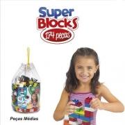 Bolsa Super Blocks C/ 174 Pçs. Médias - Blocos De Montar