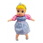 Boneca Baby Cinderela Bebezão 45cm Com Chupeta E Mamadeira