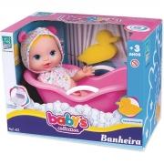 Boneca Babys Collection Banheira Com Acessório Supertoys