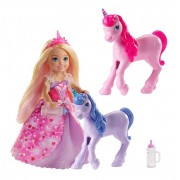 Boneca Barbie Chelsea Com Unicornios Gjk17 Mattel
