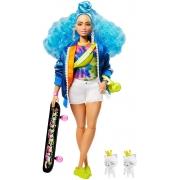 Boneca Barbie Extra Cabelo Azul Com Acessórios Mattel