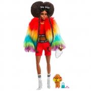 Boneca Barbie Extra Negra Edição Especial 2021 Casaco Rainbow