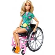 Boneca Barbie Fashionistas Loira C/ Cadeira De Rodas  Mattel