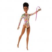 Boneca Barbie Negra Profissões Ginástica Rítmica - Mattel