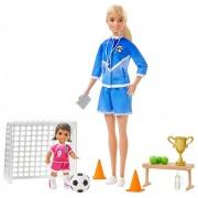 Boneca Barbie Profissões Professora Treinadora De Futebol Mattel