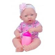 Boneca Bebê Estilo Reborn Faz Xixi Com Mamadeira e Chupeta