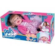 Boneca Dolls Collection Bebê Feliz C/ Acessórios  Super Toys