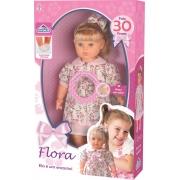 Boneca Flora C/ Olhos Moveis Fala 30 Frases Adjomar