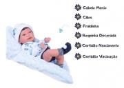 Boneca Reborn Anny Doll Baby Menino C/ Cabelo Cotiplás 2440