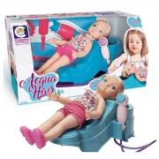 Boneca Salão De Beleza Lavar E Pentear Acqua Hair