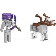 Bonecos  Batalha Do Cavaleiro Esqueleto Minecraft Mattel