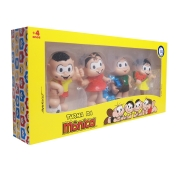 Bonecos Turma Da Mônica De 8cm 4 Unidades - I9 Brinquedos