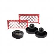 Brinquedo Air Hockey C/ Disco Flutuante Rebatedores E Traves