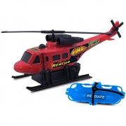 Brinquedo Infantil Helicóptero Fire Force De Fricção Cardoso