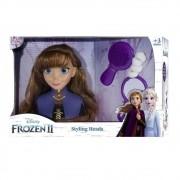 Busto Boneca Anna Para Pentear Brinquedo Frozen 2